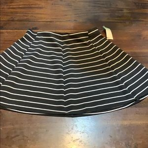 Black and white stripe skirt